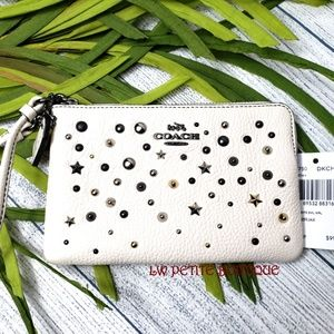 Coach Star Rivets Wristlet